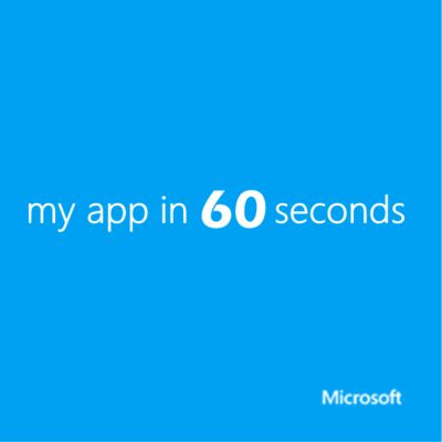 my app in 60 seconds  - Channel 9