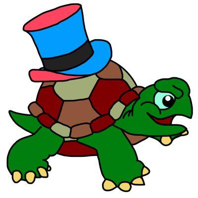 Schildkröte mit Hut - Weeplay.de