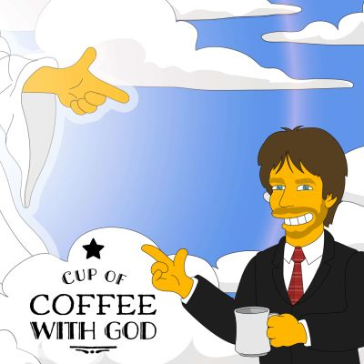 Cup of coffee with god