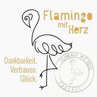 Flamingo mit Herz