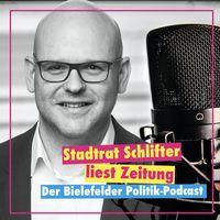 Stadtrat Schlifter liest Zeitung