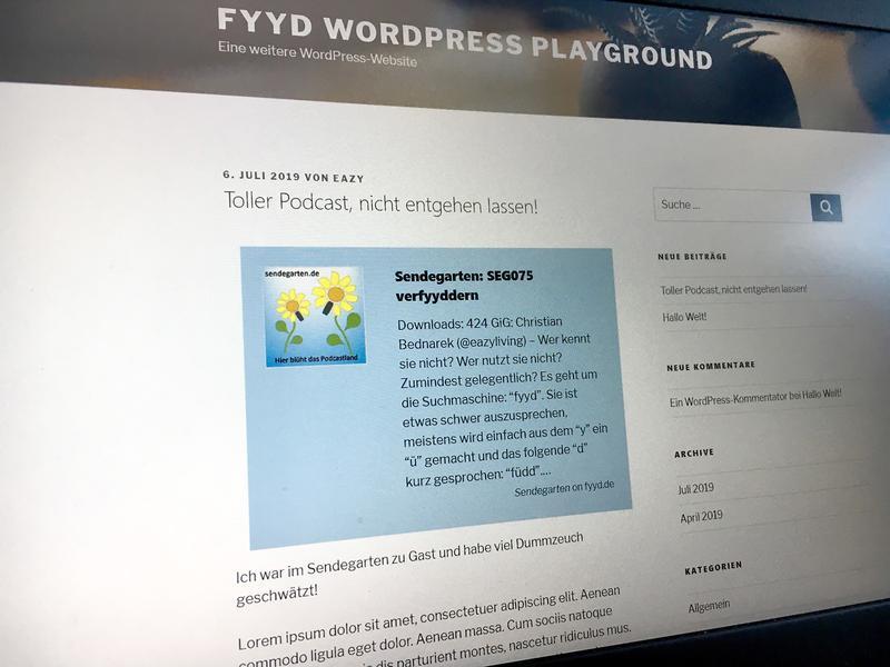 Bild zu WordPress Plugin für fyyd